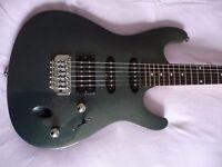 Electric guitar Ibanez Fender stratocaster shape