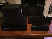 Yamaha HTR-2064 AV receiver with 5.1 surround sound speakers