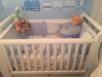 Almost new Boori Country Royale cot bed with full size drawer n new mattress from John leaves
