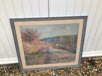 Lovely mounted and framed Claude Monet print