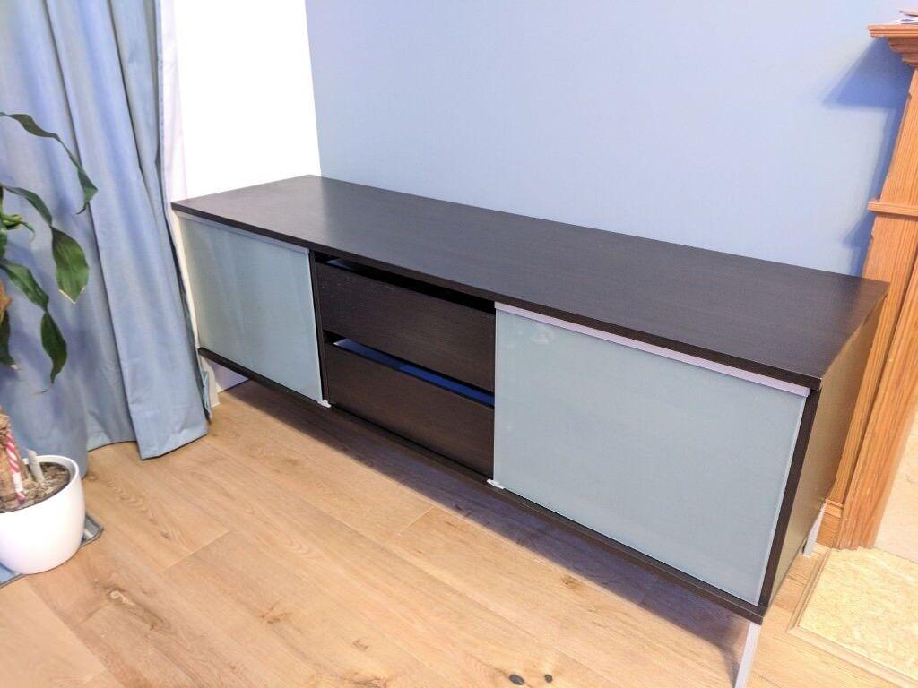 Must Go Ikea Tobo Tv Bench Stand Black Brown In