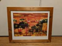 Moroccan theme picture in frame