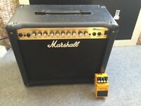 Marshall MG 30 DFX Amplifier with Boss OS-2 Overdrive/Distortion Foot Pedal