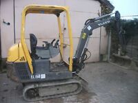 Mini Digger Hire Goundworks Landscaping Building Paving Fencing Excavations in Yorkshire