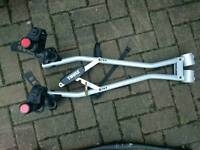 Thule bike carrier. Towbar clamped
