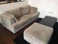 Next sofa with side foot rest with storage for sale used condition