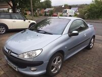 Peugeot 206cc for Sale. Good All Round Condition