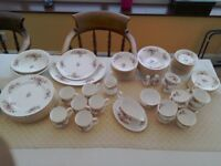 Royal Albert Moss Rose 10 piece dinner service .