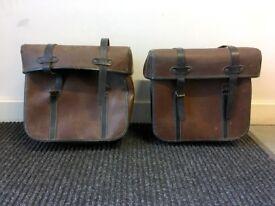 Vintage French Bike Panniers / Pannier Bags/Cases