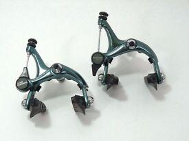 Vintage Green Anodized Shimano 105 Brake Caliper Set
