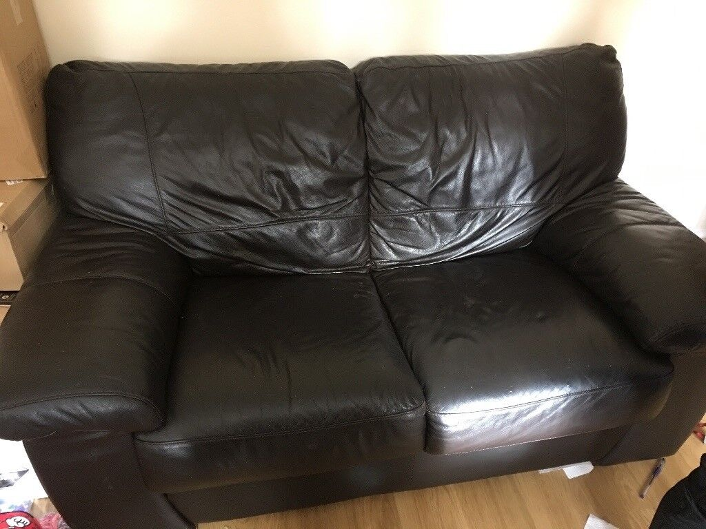 2 and 3 Seater Sofa's - Dark Brown Leather