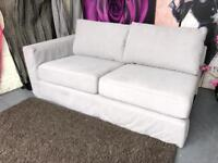 New Marks and Spencer Fabric 2 Seater Sofa Section in a Grey Linen Fabric