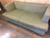 LUXURY 3 SEAT SOM'TOILE SOFA BED SAGE GREEEN COLOUR BLEND