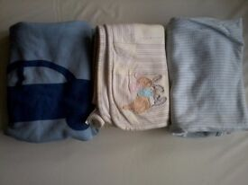 Four Assorted Baby/Child Blanket Bundle.