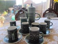 Coffee Set in crockery.