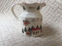 "Masons Ironstone ""Christmas Village"" Pitcher Jug. First Quality, Immaculate Condition. Buy Now!"