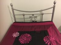 Used Single bed , Metal frame , with mattress in Good Condition