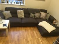Large grey corner sofa in great condition