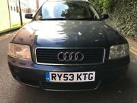 2003(53) AUDI A6 1.9 TDI MANUAL 6 SPEED 131 BHP EXCELLENT RUNNER PX TO CLEAR SIMILAR VW SKODA BMW