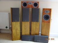 A set of 4 Celestion F20 and 1 CelestionF35 floor standing speakers