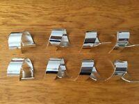 8 Napkin Rings, Colour Silver, Metal