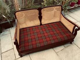 Bergere two seater sofa