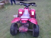 Good condition red Apache 50cc quad. Lack of use forces sale.