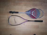 badmington racquets x2