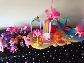 My little pony characters and play set