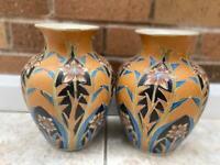 Two Patterned Ceramic Vases