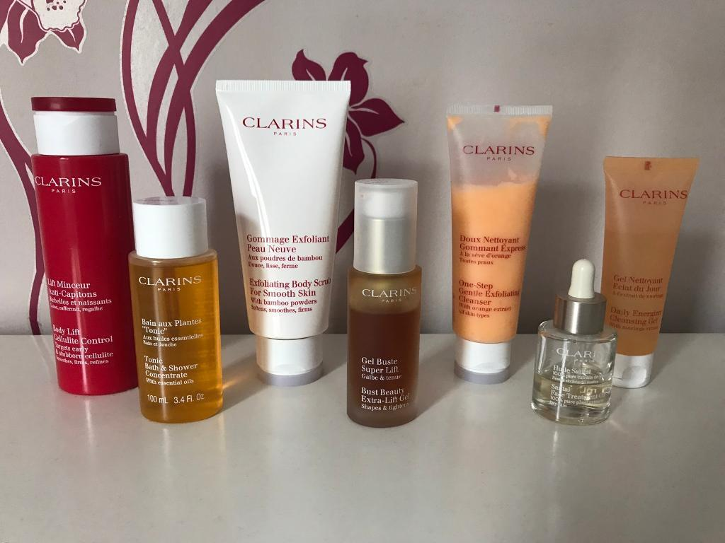Clarins, Biotherm, Liz Earle, Clinique beauty products £80