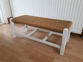 Rattan foot stool