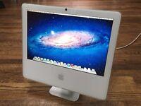 Apple iMac White - Intel C2D 1.83GHZ + 2GB + 160GB + WiFi + DVD - 10.7.5 'Lion' - BARGAIN AT £70