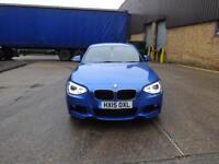 BMW 1 Series 125d M Sport 5dr (blue) 2015