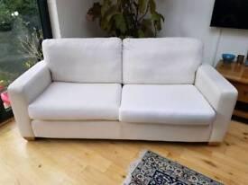 John Lewis cream sofa