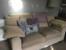 Sofa 2 seater beige