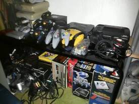 Nintendo nes snes game cube/boy ds ect games consoles and accessories wanted by local collector
