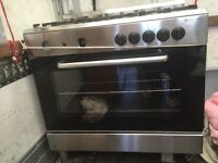 Stainless steel range cooker