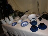 House Clearance. Kitchen canisters etc (does not include Japanese tea kettles, for sale separately)