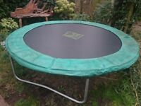 8ft TP Zoomee Trampoline with cover and safety net