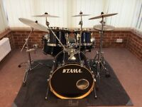 Drum Kit - Tama Superstar in Midnight Blue with Sabian XS20 cymbals