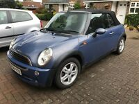 Mini one convertible 2004 *power roof not working* hence cheap price! P-ex welcome! Still insured!!