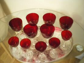 Wine and port glasses