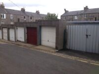 Lock up garage to let, Pittodrie Lane, Aberdeen, near King Street and Linksfield Road.