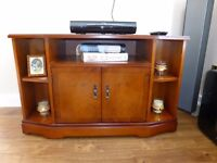 Strongbow corner TV unit in yew