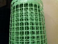 Roll of green plastic netting