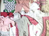 Baby Girl Clothes Bundle 0/6 Months £20 Ref 0139