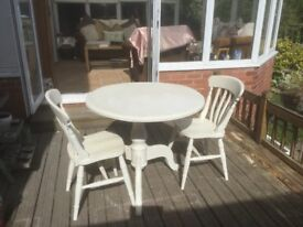 Kitchen table and 2 farmhouse chairs