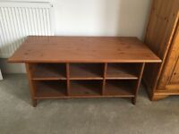 Wood coffee table/TV unit