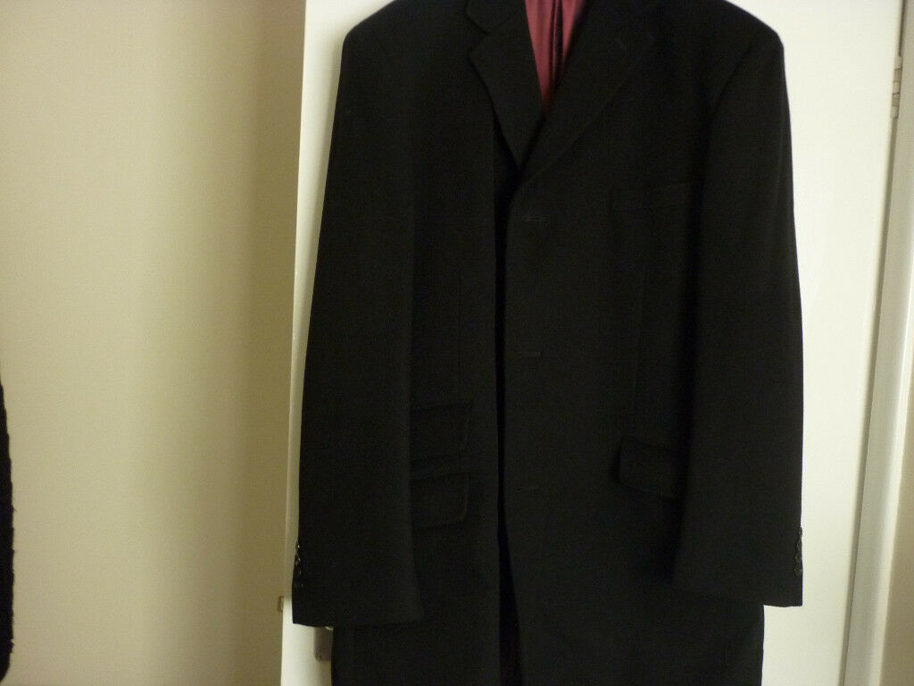 mens overcoat in black